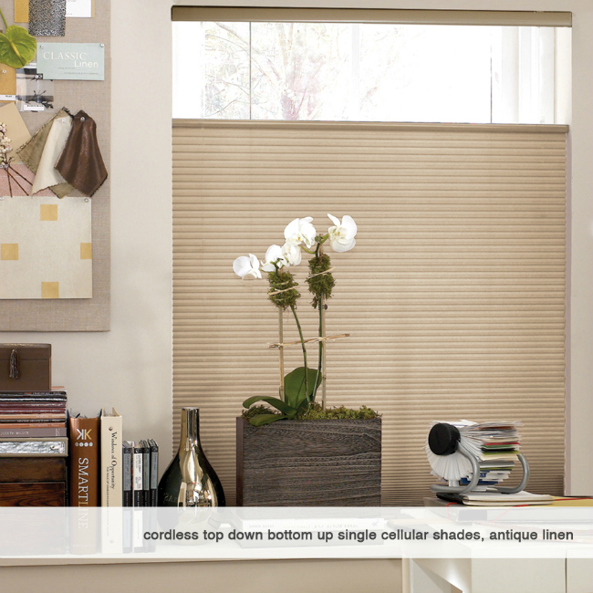 cordless top down bottom up cellular honeycomb shades 41 to 42 inches wide ebay. Black Bedroom Furniture Sets. Home Design Ideas